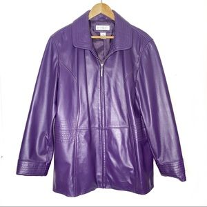 Preston & York Purple Lamb Skin Jacket size XL